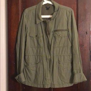J Crew Military Green Jacket